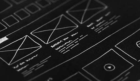 wireframes site web