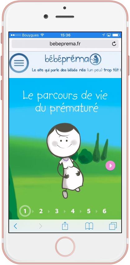 Bebeprema - page accueil mobile
